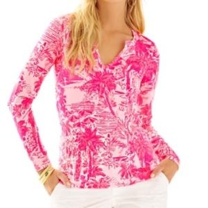 Lilly Pulitzer Pink Rule Breakers Kayleigh Top
